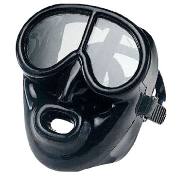 IST -  Full Face Black Silicone Scuba Diving Mask